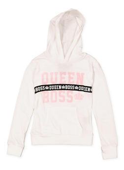 Girls 7-16 Queen Boss Hooded Tee - 1635063400033