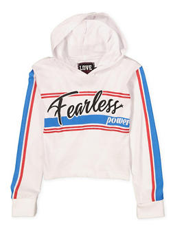 Girls 7-16 Fearless Power Hooded Tee - 1635063400041