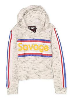 Girls 7-16 Savage Hooded Tee - 1635063400049