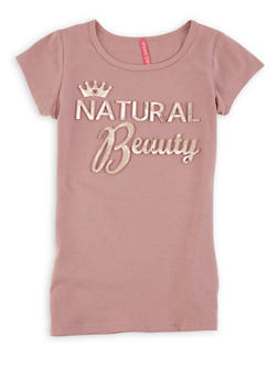 Girls 7-16 Natural Beauty 3D Foil Graphic Tee - 1635066590144