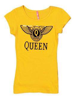 Girls 7-16 Queen 3D Graphic Tee - 1635066590145