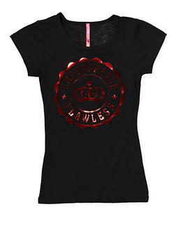 Girls 7-16 Flawless 3D Foil Graphic Tee - 1635066590156