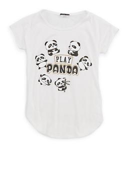 Girls 7-16 Panda Graphic T Shirt - 1635066590508
