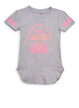 Girls 7-16 Boss Glitter Graphic T Shirt - 1635066590533