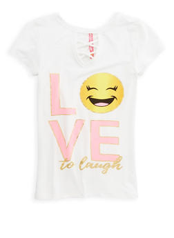 Girls 7-16 Love to Laugh Graphic T Shirt - 1635066590552