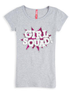 Girls 7-16 Sequin Girl Squad Graphic Tee - 1635066590560