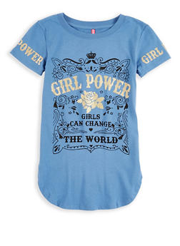 Girls 7-16 Girl Power Graphic Top - 1635066590570