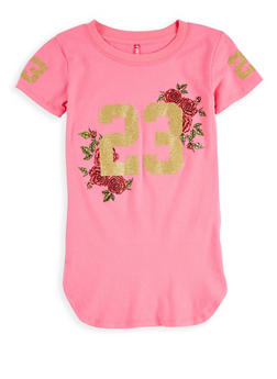 Girls 7-16 Glitter Graphic T Shirt - 1635066590573