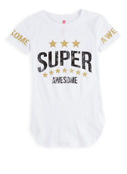 Girls 7-16 Glitter Graphic T Shirt - 1635066590574