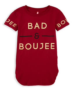 Girls 7-16 Bad and Boujee Graphic Top - 1635066590575