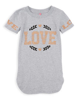 Girls 7-16 Love Graphic Tee - 1635066590577