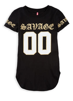 Girls 7-16 Savage Graphic Top - 1635066590579