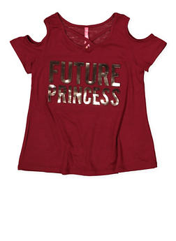 Girls 7-16 Future Princess 3D Foil Graphic Tee - 1635066590592