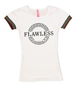 Girls 7-16 3D Flawless Foil Graphic Tee - 1635066590607