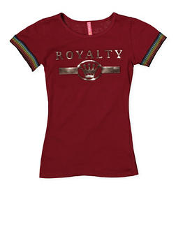 Girls 7-16 Royalty 3D Foil Graphic Tee - 1635066590621
