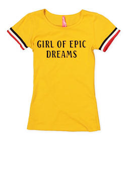 Girls 7-16 3D Foil Dreams Graphic Tee - 1635066590623