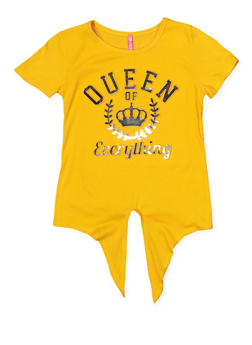 Girls 7-16 3D Foil Queen of Everything Graphic Tee - 1635066590636