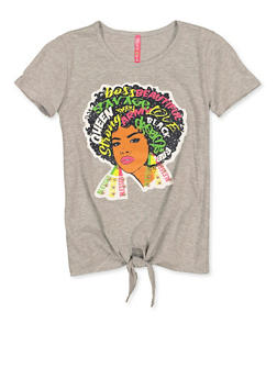 Girls 7-16 Afro Girl Patch Tee - 1635066590654