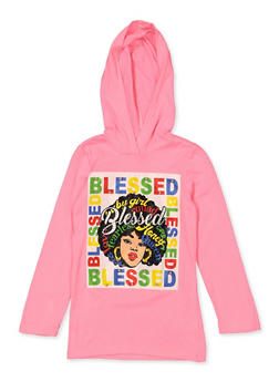 Girls 7-16 Blessed Hooded Tee - 1635066590661