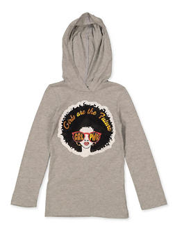 Girls 7-16 GRL PWR Hooded Tee - 1635066590663