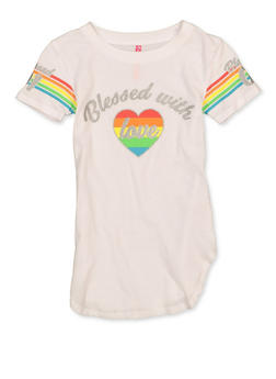 Girls 7-16 Blessed With Love Tee - 1635066590675