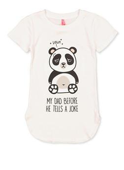 Girls 7-16 Dad Joke Panda Tee - 1635066590688