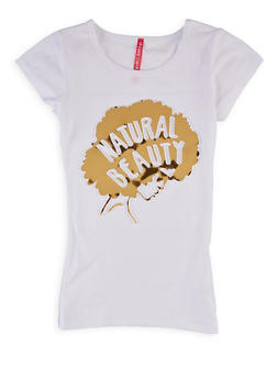 Girls 7-16 Natural Beauty 3D Graphic Tee - 1635066590694