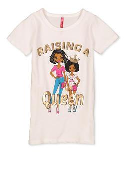 Girls 7-16 Raising A Queen Tee - 1635066590702