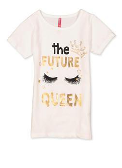 Girls 7-16 The Future Queen Tee - 1635066590706