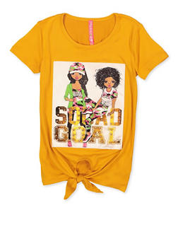 Girls Squad Goal Patch Top - 1635066590841