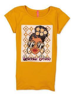 Girls Queen Diva Graphic Patch Tee - 1635066590900