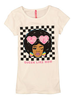 Girls Queen Like Mom Graphic Tee - 1635066591040