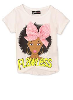 Girls 4-16 Flawless 3D Bow Tee - 1635073990074