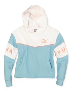 Girls 7-16 Puma Fleece Lined Pullover Sweatshirt - 1639075230033