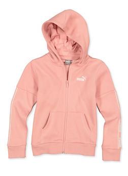 Girls 7-16 Puma Zip Front Sweatshirt - 1639075230039