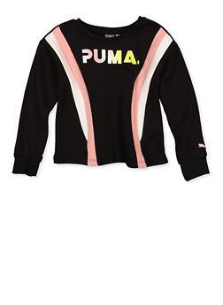 Girls 7-16 Puma Crew Neck Sweatshirt - 1639075230041