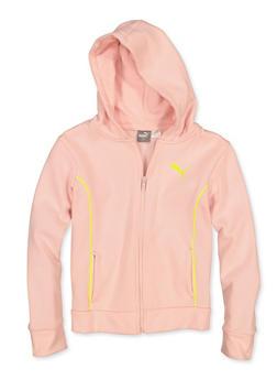 Girls 7-16 Puma Contrast Trim Zip Sweatshirt - 1639075230045
