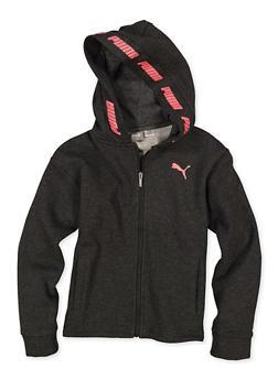 Girls 7-16 Puma Logo Hooded Zip Sweatshirt - 1639075230049