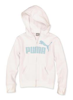 Girls 7-16 Puma Glitter Zip Sweatshirt - 1639075230052