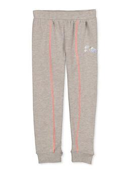 Girls 7-16 Puma Fleece Lined Contrast Trim Joggers - 1639075230077