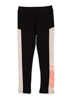 Girls 7-16 Puma Color Block Leggings - 1639075230079