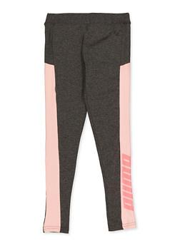Girls 7-16 Puma Color Block Detail Leggings - 1639075230092
