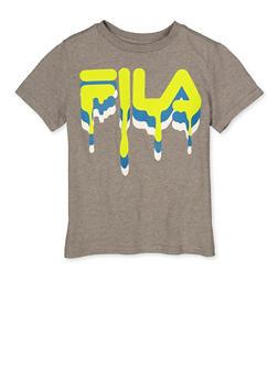 Boys Fila Drip Logo Tee - 1704075650301