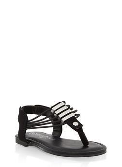 Girls 5-10 Metallic Detail Thong Sandals - 1737014060050