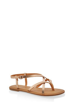 Girls 12-4 Criss Cross Strap Sandals - 1737014060085