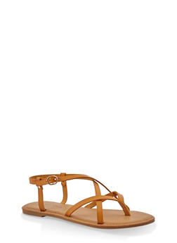 Girls 12-4 Criss Cross Strap Sandals - 1737014060085