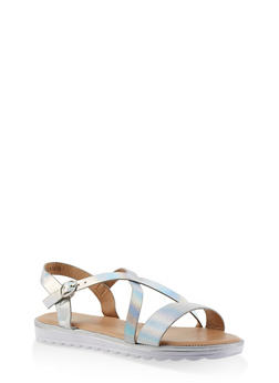 Girls 11-4 Cross Strap Sandals - 1737046950098