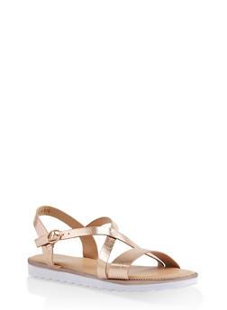 Girls 11-4 Cross Strap Sandals - 1737046950098