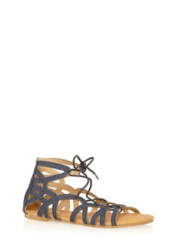 Girls 11-4 Lace Up Gladiator Sandals - 1737061120245