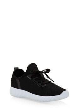 Girls 12-4 Knit Athletic Sneakers - 1737062720107
